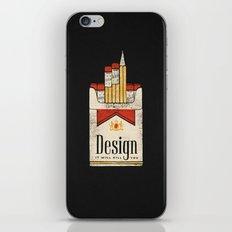 Design will kill you iPhone Skin