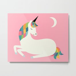 Unicorn Happiness Metal Print