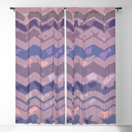 Abstract Wave II Blackout Curtain