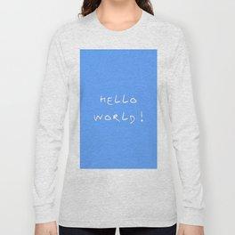 Hello world - blue Long Sleeve T-shirt