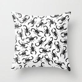 Scorpion Swarm Throw Pillow