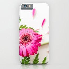 Gerbera Daisy & Fern Art iPhone Case