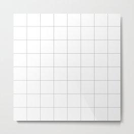 grey white grid Metal Print