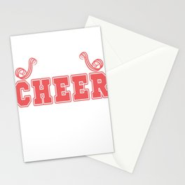 """A sassy T-shirt Design for the """"Best Cheer Lister Ever"""" perfect shirt to cheer your best cheerer Stationery Cards"""