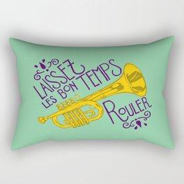 Les Bon Temps New Orleans Jazz Trumpet Rectangular Pillow