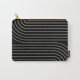 Minimal Line Curvature - Black and White II Carry-All Pouch