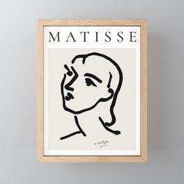 Henri Matisse Ink Portrait Framed Mini Art Print