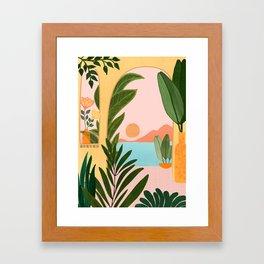 Moroccan Coast - Tropical Sunset Scene Framed Art Print
