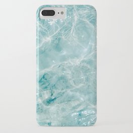 Clear blue water   Colorful ocean photography print   Turquoise sea iPhone Case