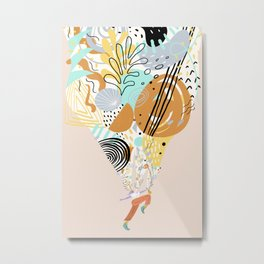 Better With Music Metal Print