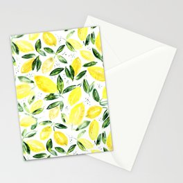 So luscious lemons || watercolor Stationery Cards