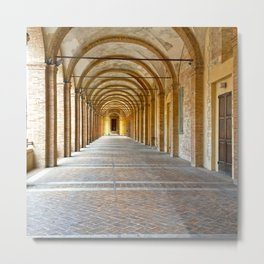 Italian architecture city of Fabriano Metal Print