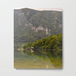 Julian Alps Lake Bohinj Slovenia Travel Photography Reflection Metal Print