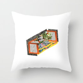 Fuzzy Watermelon Wires // External Stem Cave Digit Slicer Throw Pillow