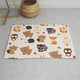 Woodland Nursery Pattern Rug