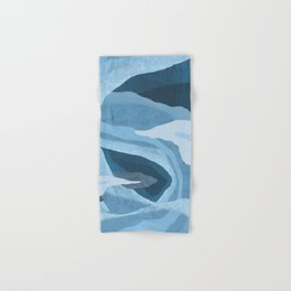 Shapes and Layers no.24 - Blues Hand & Bath Towel