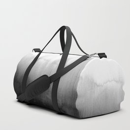 Modern Black and White Watercolor Gradient Duffle Bag