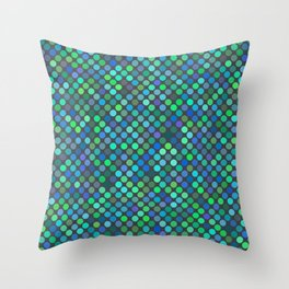 every color 091 - blue dragon scales Throw Pillow