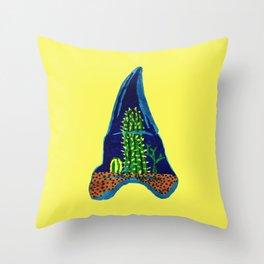 Shark Tooth Terrarium Throw Pillow