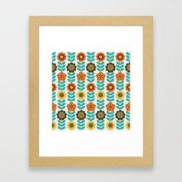 seamless floral pattern design. Vintage illustration Framed Art Print