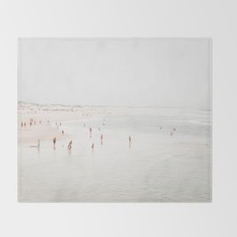 At the Beach (two) Throw Blanket
