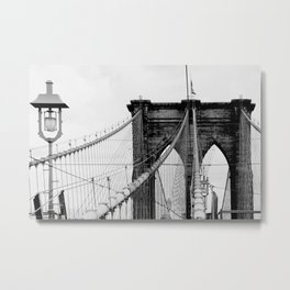 new york city ... brooklyn bridge & lantern Metal Print