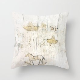 little memory Throw Pillow