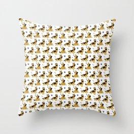 German Shepherd Puppies Throw Pillow