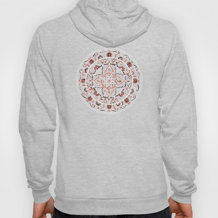 Detailed Burnt Orange Mandala Hoody