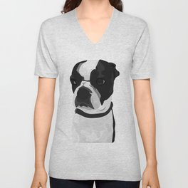 Tucker the Boston Terrier Unisex V-Neck