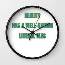 Famous & Fabulous Bias Tshirt Design Reality bias Wall Clock