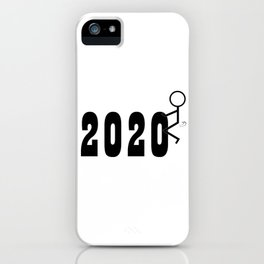 Fuck 2020 Stickman Humping Sarcasm Humor  iPhone Case