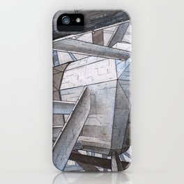 The Mnemoplex - nano carbone cristal based city iPhone Case