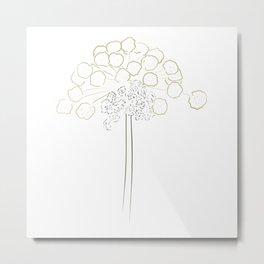Simple Wild Celery Metal Print