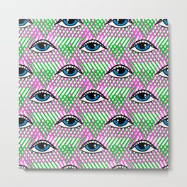 Funky eye design Metal Print