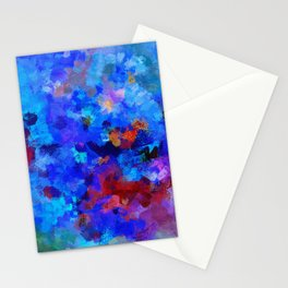 Abstract Seascape Painting Stationery Cards