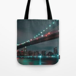 Magnificent Historic Brooklyn Bridge Manhattan New York Independence Day Romantic Nightlife Ultra HD Tote Bag