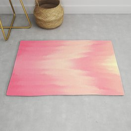 Extravaganza - Pink and Creamy Gold Abstract Rug