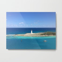 Bahamian Lighthouse Metal Print