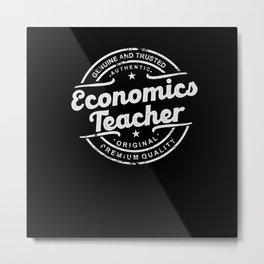 Best Economics Teacher retro vintage distressed Metal Print