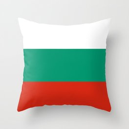Flag: Bulgaria Throw Pillow