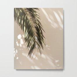 tropical palm leaves vi Metal Print
