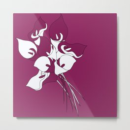 Calla liles  Metal Print