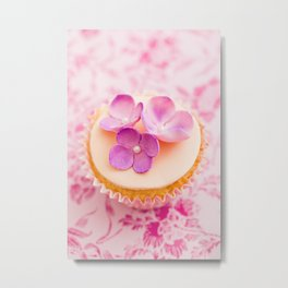 Decorated cupcake Metal Print