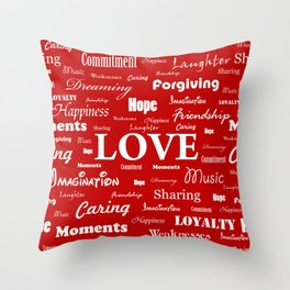 Love is Red & White Throw Pillow