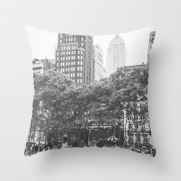 Bryant Park NYC Photography Throw Pillow