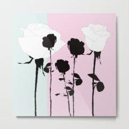 Roses with ink Metal Print