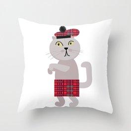 Scottish fold cat William Throw Pillow