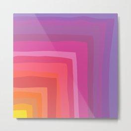 Vivid Vibrant Geometric Rainbow Metal Print
