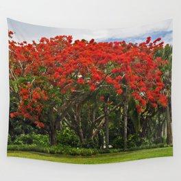 Royal Poinciana Tree Wall Tapestry
